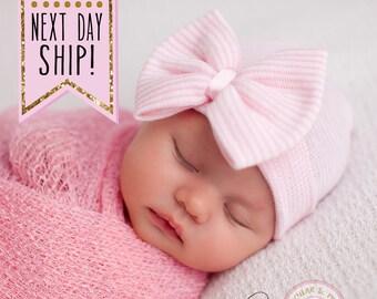 13b44c1ca3f Newborn bow hat