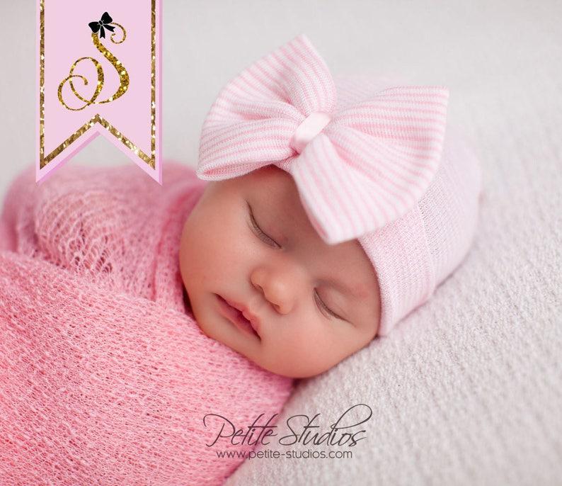 NEWBORN GIRL baby girl newborn hospital hat newborn hat  1c29e190e96