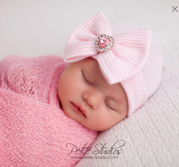 Baby hospital hat girl hospital hat newborn girl hat  1e3d3657359