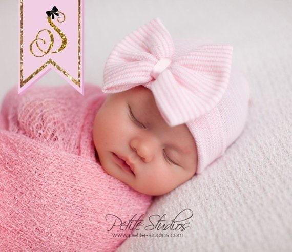 NEWBORN GIRL HAT newborn baby girl newborn hospital hat  9c8a67f53ab
