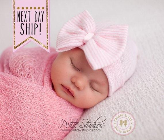 849cef21e78 Baby Girl Hospital Hat Newborn Girl Infant Girl Baby Girl