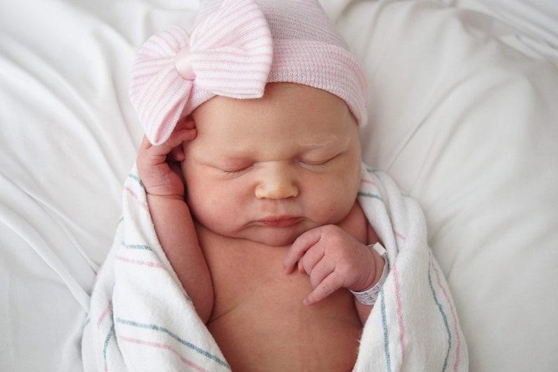 fb5619d013f Baby hospital hat newborn hat newborn girl hat newborn