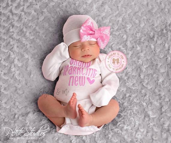 aaac1f5db24e Rose Bébé fille à venir maison tenue rose Bébé fille   Etsy