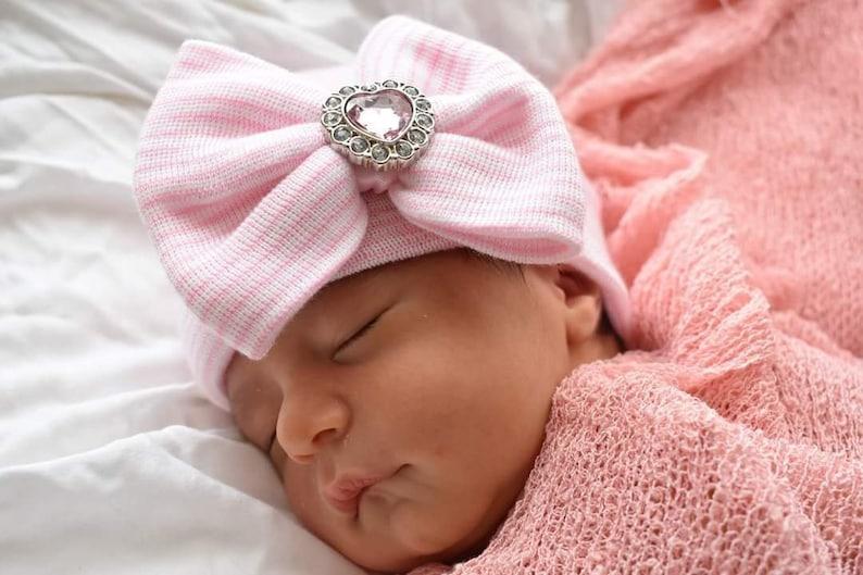 5fd6bc0fb BABY GIRL HAT newborn baby girl hospital hat newborn girl hat