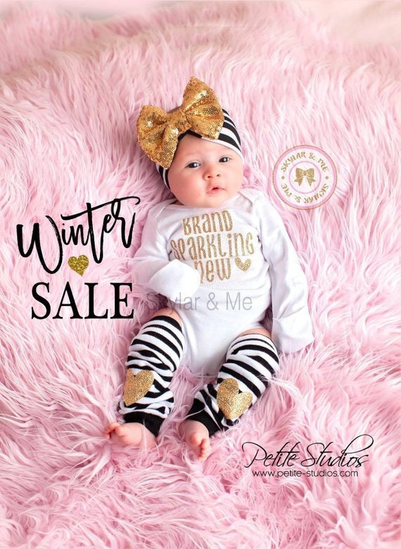 0a1898032291 Newborn outfit hospital outfit coming home outfit baby girl