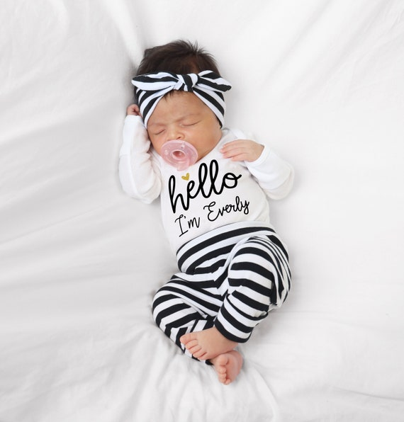 Take Home winter Princess Take Home Outfit Newborn Name Baby fall Personalized Baby Girl Coming Home Outfit Outfit Newborn