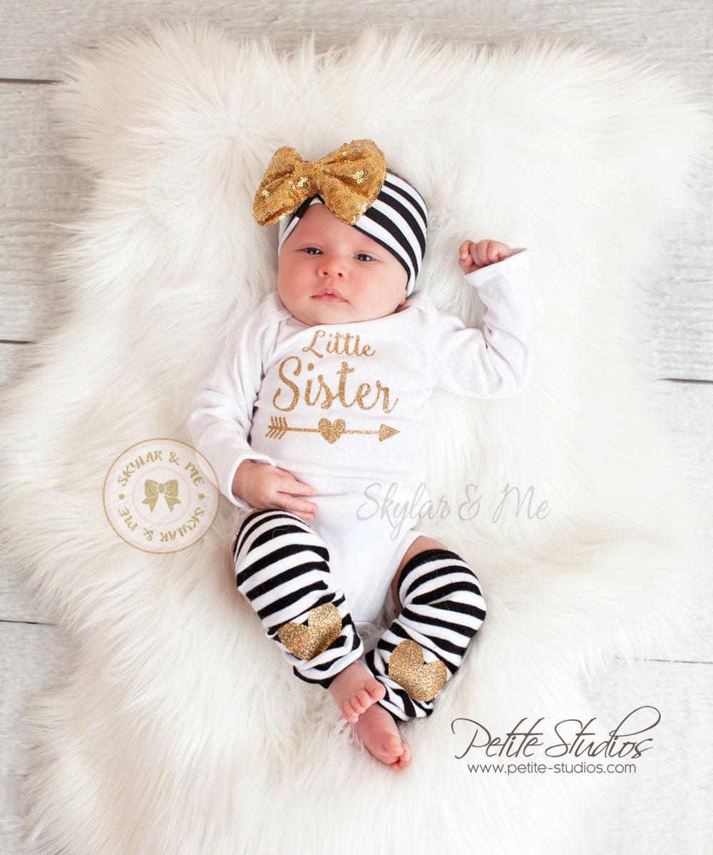 a221d1b70 Little sister outfit baby girl coming home outfit little