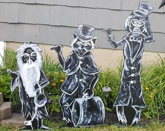 Haunted Mansion Singing Busts Halloween Yard Art Etsy