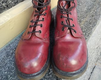 1980S DR MARTENS 1460 8eye Forest Green Combat Boot