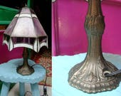 Vintage Tiffany style lamp Lamp Desk Vintage Table Lamp Vintage Stained Glass lamp