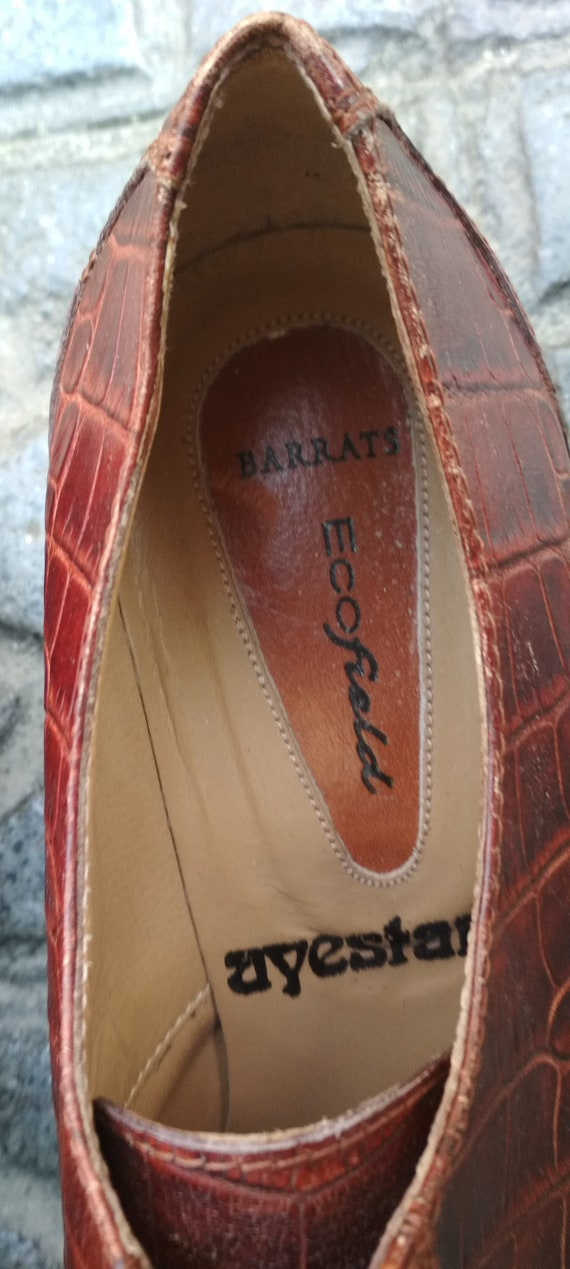Shoes embossed leather vintage women / Elegant le… - image 3