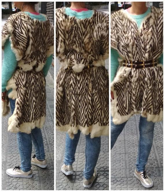 Vintage Rabbit  vintage wild vest / Amazing shawl