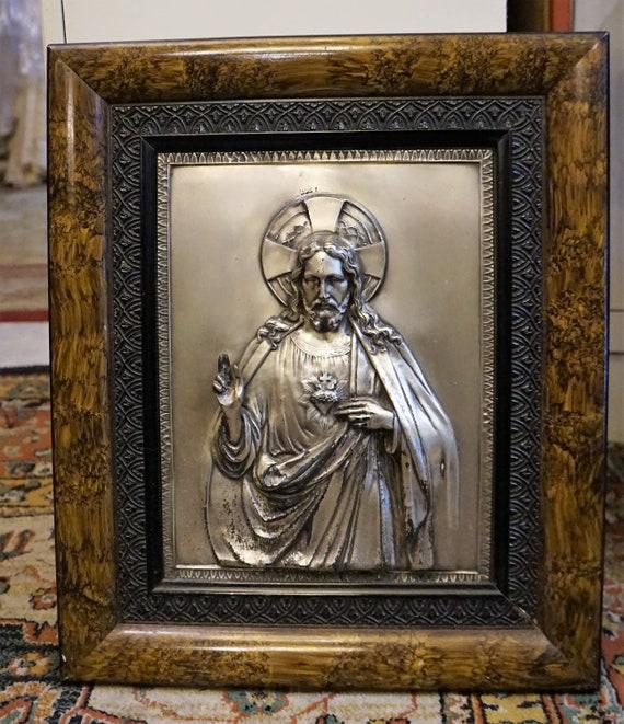 Vintage Religious Jesus Christ Alpaca Frame // Jes