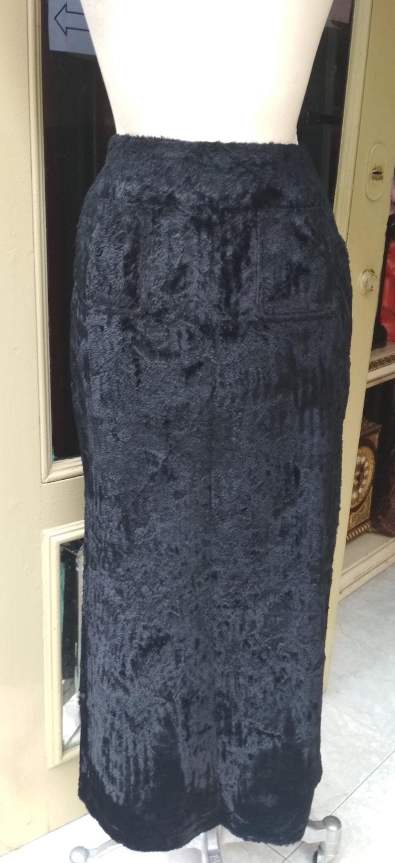 Kenzo Vintage Long Black Skirt Velvet  Kenzo Jungle Vintage Kenzo Paris  Vintage Nineties