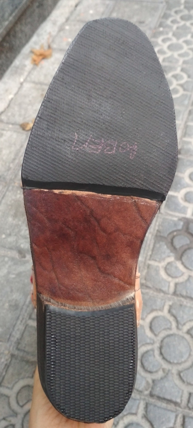 Genuine Leather Kilim boots in Morocco  Leather Cowvoy boots  Unisex Boots Fabric and leather