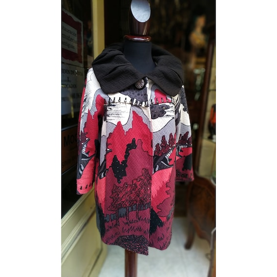 Vintage René Derhy Coat Printed // Amazing Women C