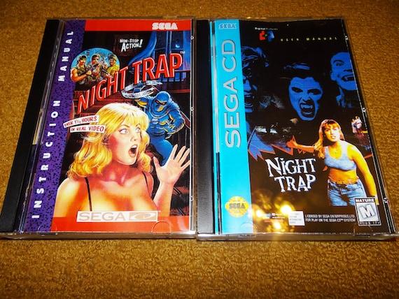 Sega CD Night Trap reproduction game CD, reprinted manual, case & case  insert (see variations below - multiple case art options)
