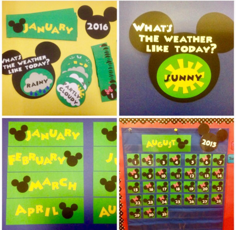 Weather Calendar 2020 Kindergarten Preschool Disney 2019 / 2020 Calendar & Weather | Etsy
