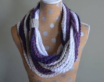 Crochet Pattern - Chain Rope Infinity Scarf