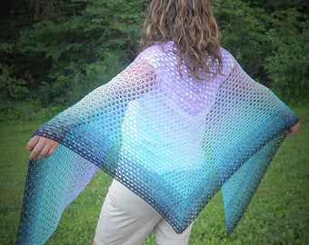 Crochet Pattern - Summer Path Shawl