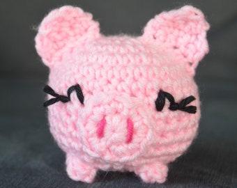 Crochet Pattern - Petite Piggy Amigurumi