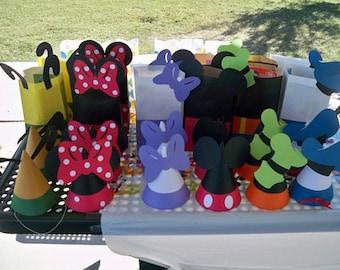 Sombreros de fiesta de Mickey Mouse o Goody bolsas - 8 piezas d2aa23975ff