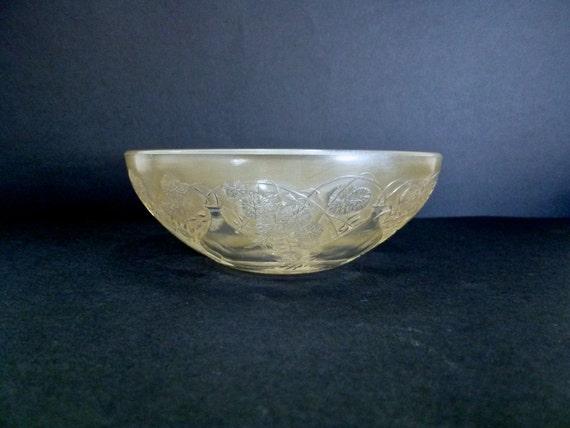 Antique Lalique Art Glass Bowl Floral And Vase Pattern Art Etsy