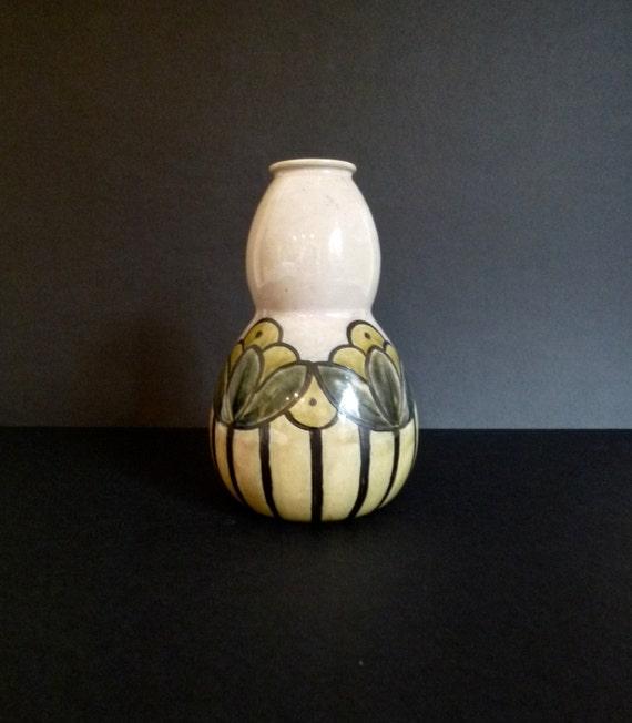 Art Deco Royal Doulton Vase Bessie Newbery Antique Pottery Etsy