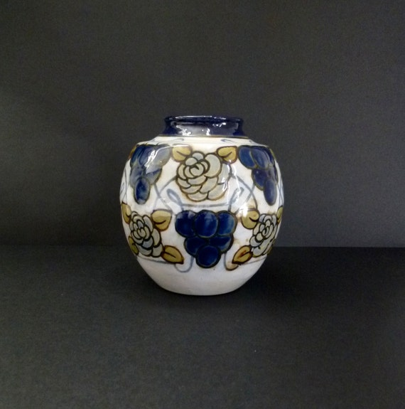 Art Nouveau Royal Doulton Stoneware Vase Decorated By Maud Etsy