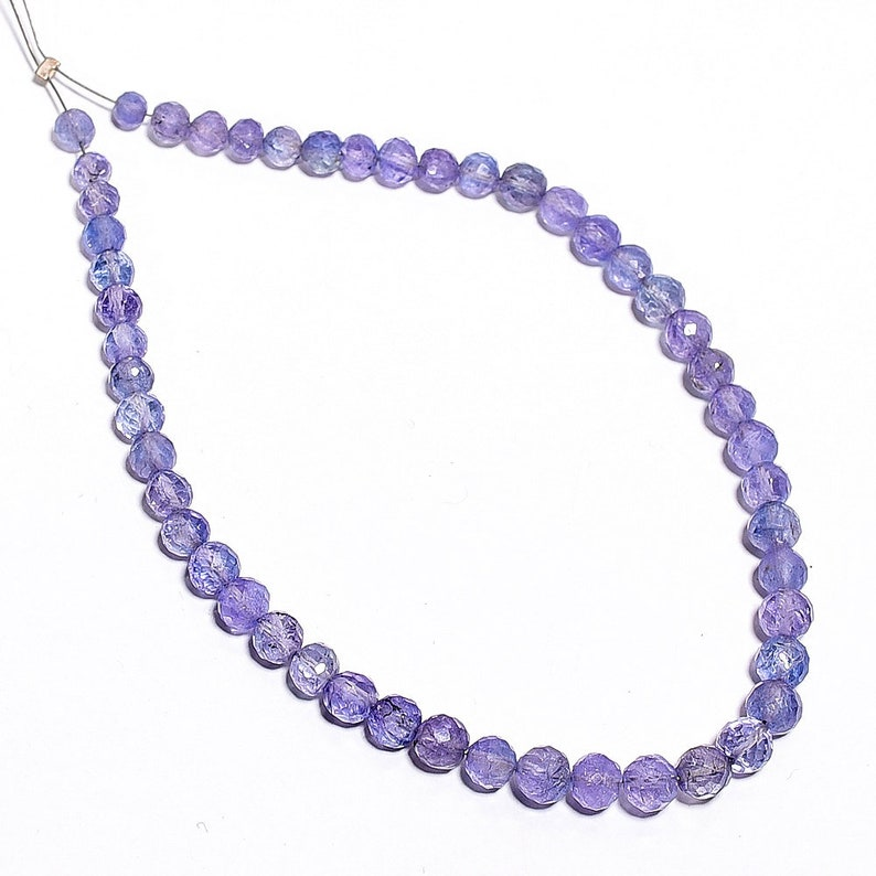 Natural Tanzanite Faceted Round Gemstone Loose Beads 4-5 mm 8 Strand 11504