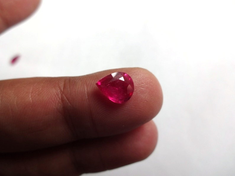 So Gorgeous AAA quality Thai Ruby cut pear shape size 7X8.5mm 1.45cts
