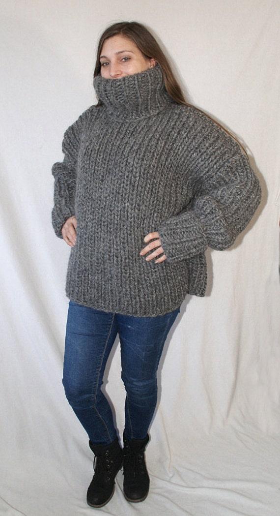 25 Kg Turtleneck Sweater Iclandic Lopi Wool Chunky Thick Knit Etsy