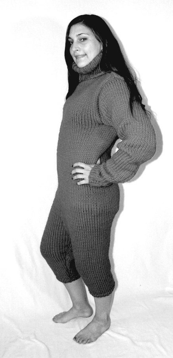 6adee04db 2-3 kg Body Suit thick knit turtleneck chunky wool bodysuit