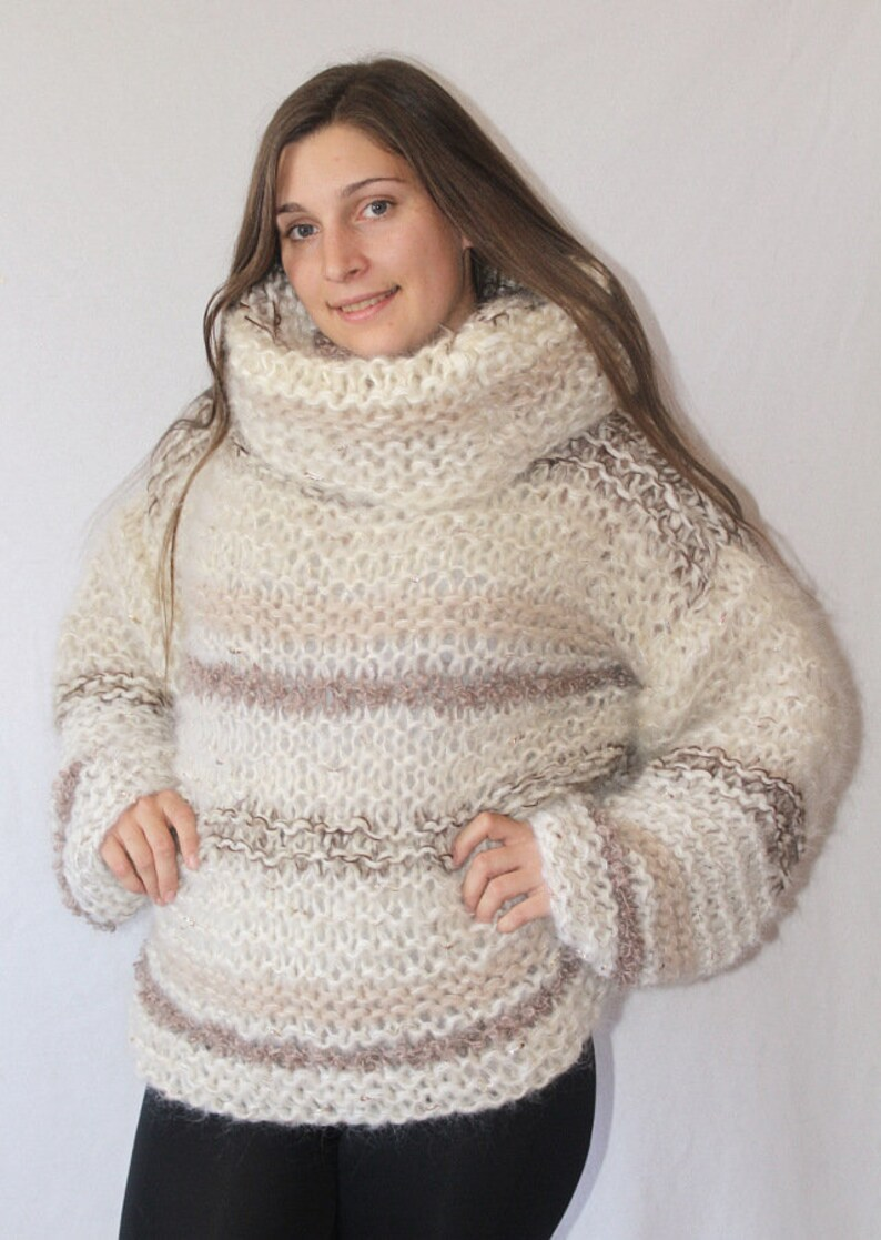 SALE Loose Mohair Sweater Oversize fluffy longhair mohair  fae4dc0bf