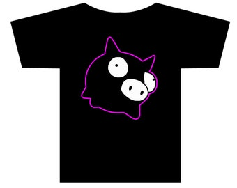 Invader Zim Rubber Piggy Character T-shirt