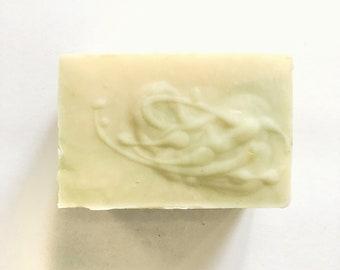 Basil Lime Mandarin Bar Soap Olive Shea Butter Sea Salt
