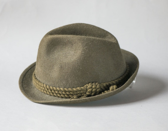 851c7b29c99 Men s Bavarian Hat Brown Felt. Mayser Unisex Panama Hat vintage. Wool felt  hat fedora. Classic Tyrolean hat. Men s fashion fedora retro