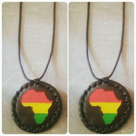 Handmade AFRICAN MEDALLION