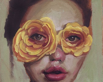 Surreal Flower Painting Giclee Print