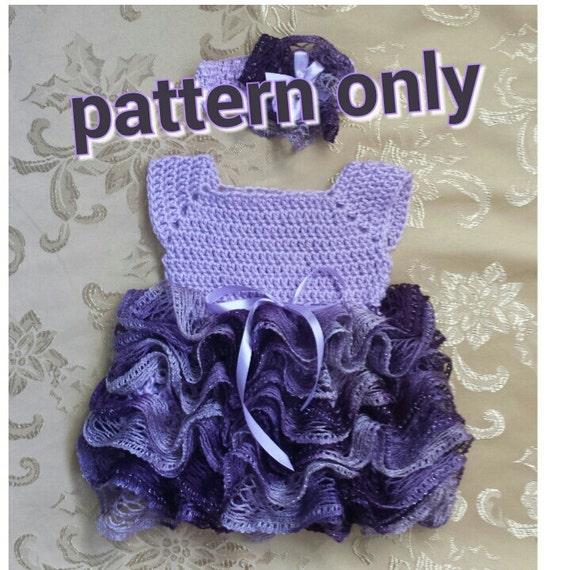Crochet Baby Dress With Ruffle Skirt Newborn Tutu Dress Etsy