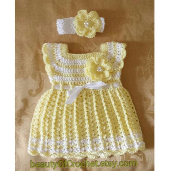 1035abedd924 Baby girl dress and headband newborn girl dress baby gift