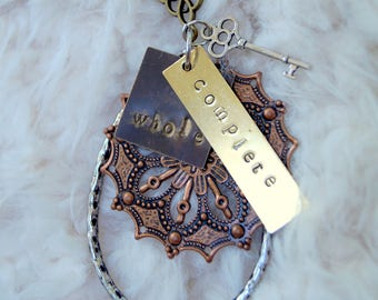 Whole and Complete Handstamped Necklace