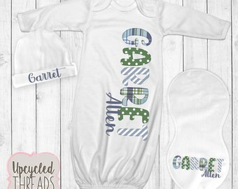 9ab83be6cea8 Baby Boy Personalized Coming Home Outfit