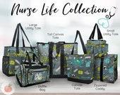 Personalized Nurse Totes, Nurse Gift, Nurse Utility Bag, Nurse Cosmetic Bag, Nurse Duffel Bag, Nurse Organizer Bag, Gift for Nurse