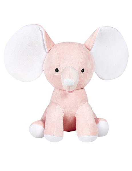 Personalized Baby Gift Elephant Birth Announcement Stuffed Animal