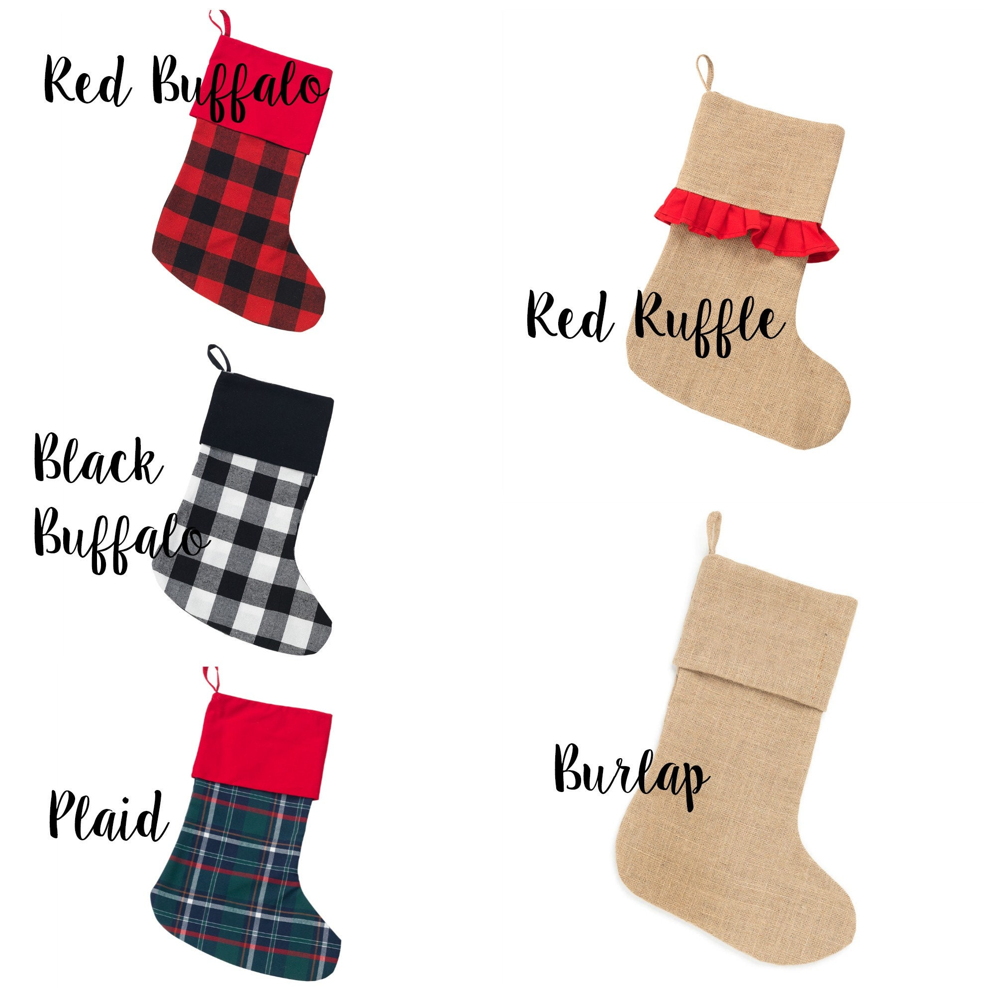 Personalized Christmas Stockings, Family Stockings Monogrammed ...