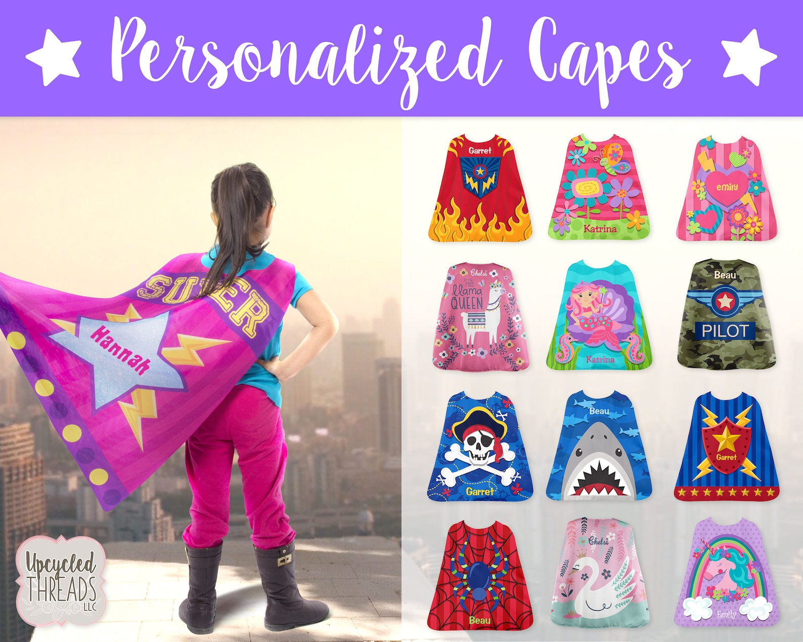 Who doesn't love being a superhero? Check out these personalized Capes!