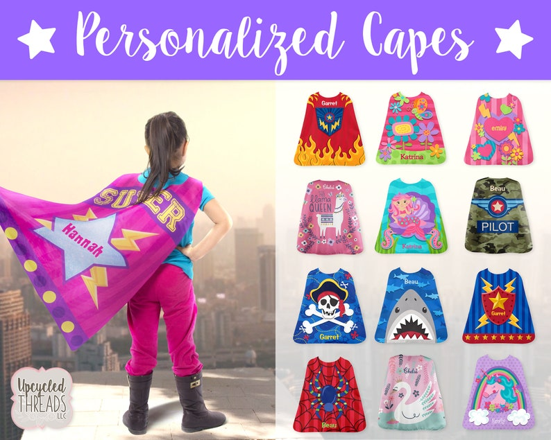 Personalized Cape, Kids Play Cape Kids Cape Youth Cape