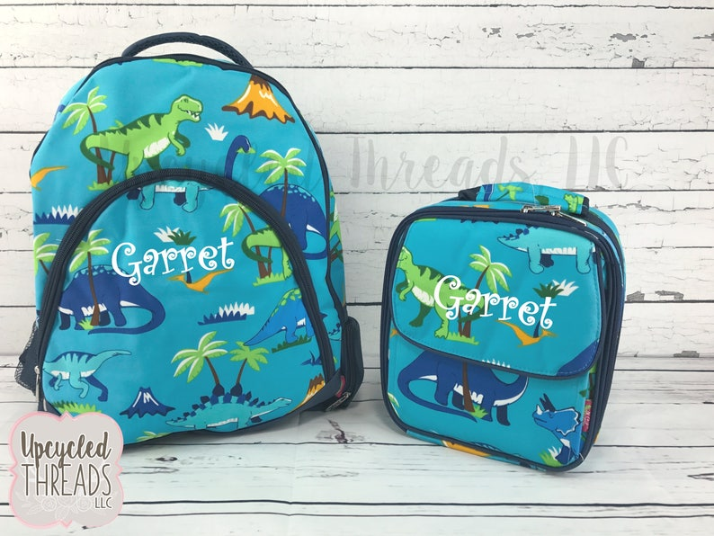 b13a503daa Boys Personalized Dinosaur backpack Monogrammed Backpack