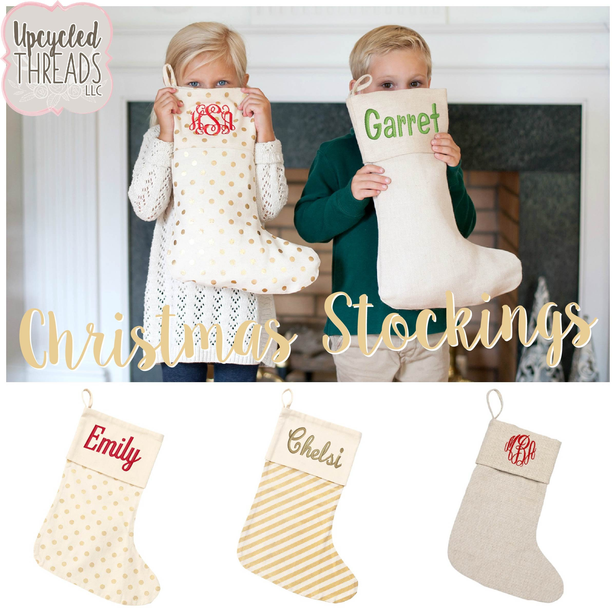 Personalized Christmas Stockings, Family Stockings Monogrammed
